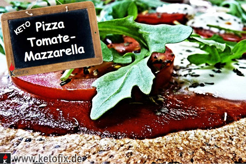 Low Carb Pizza Tomate Mozzarella