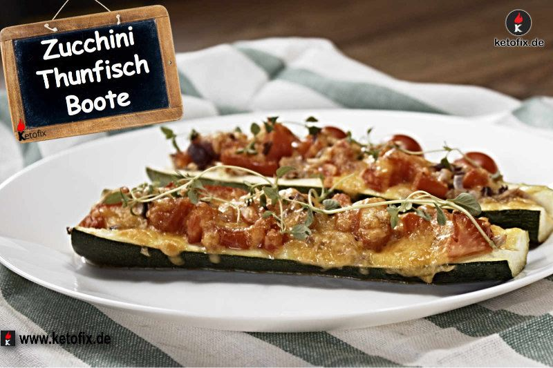 Low Carb Thunfisch Zucchini Boote | Mediterranes Low Carb Rezept ...