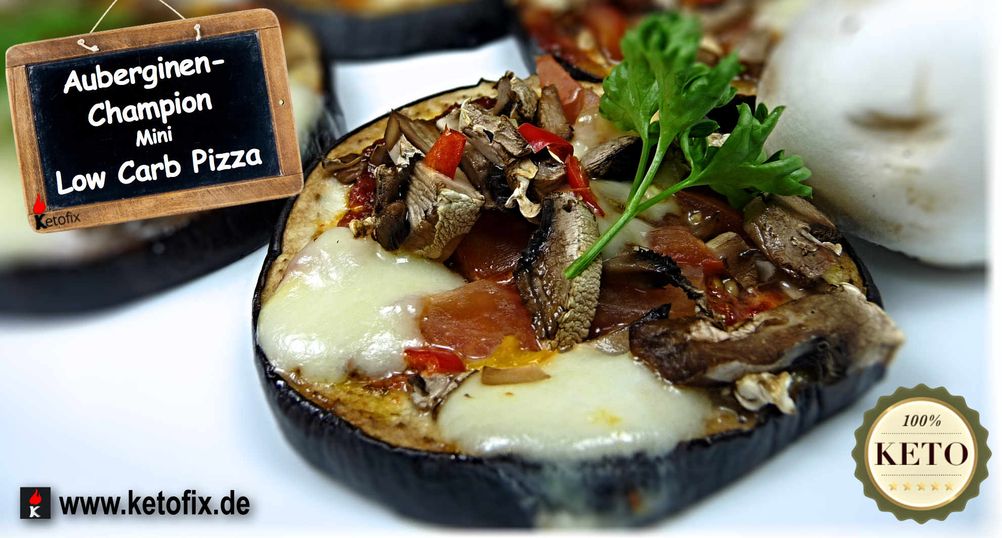 Ketofix Low-Carb Pizza Champion Aubergine