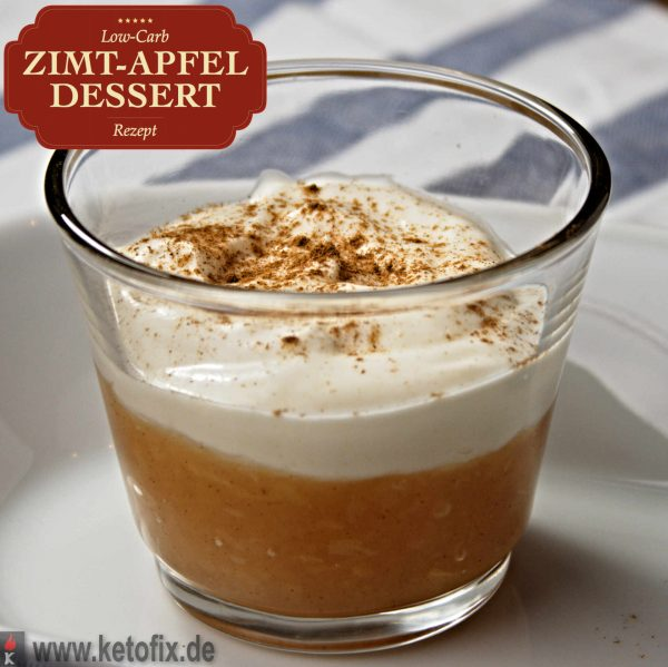 zimt apfel dessert low carb rezept schnell einfach ketofix. Black Bedroom Furniture Sets. Home Design Ideas