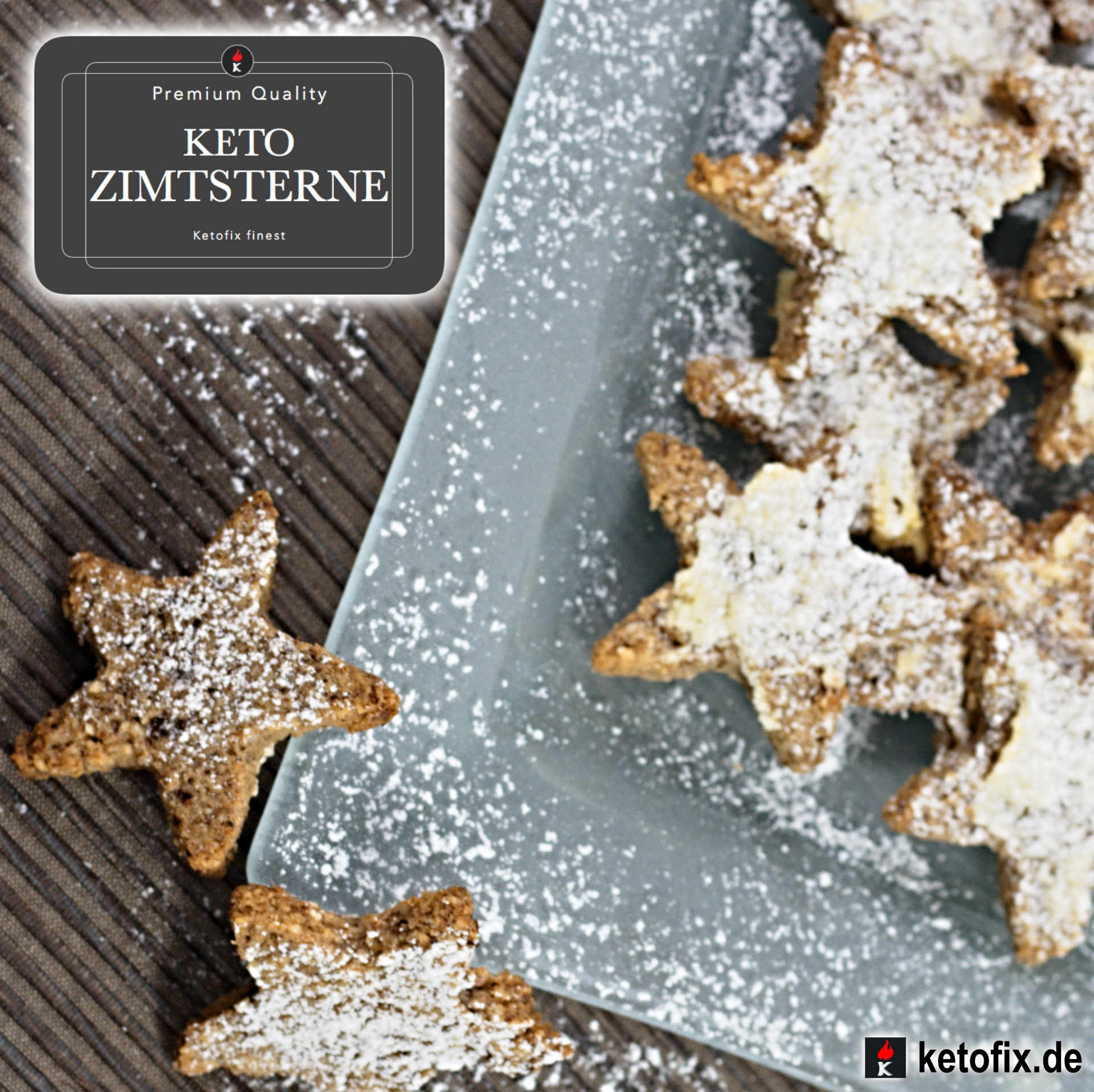 Zimtsterne Rezept Low Carb ketogen