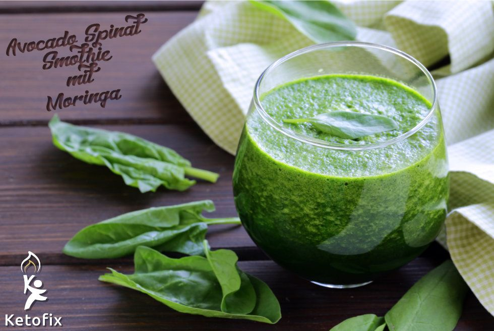 Keto Smoothie Rezept Avocado Spinat Ketofix