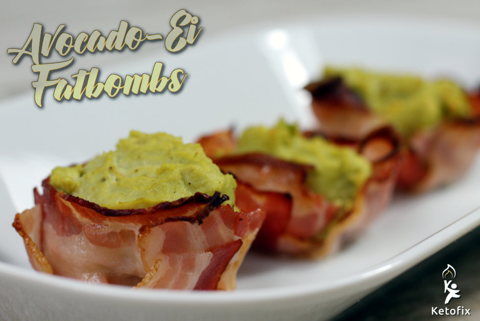 Keto Fat-Bombs Avocado-Creme Bacon